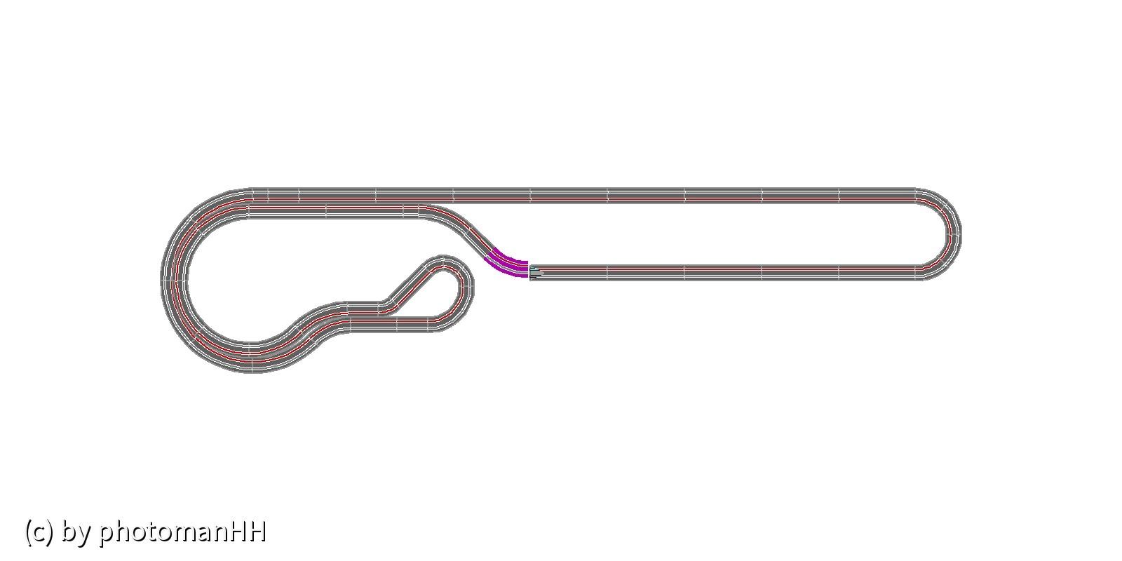 AFX-Race DC-Chef 4x1m